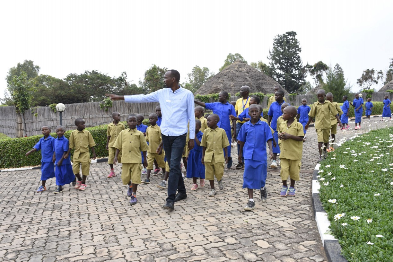Study trip at King's Palace Museum at Nyanza